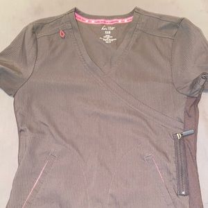 Koi lite scrub top grey
